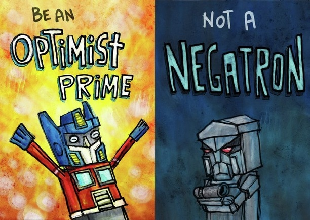 Optimist Prime and Negatron