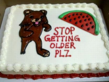 Pedobear Pedo Bear watermelon cake stop getting older please plz